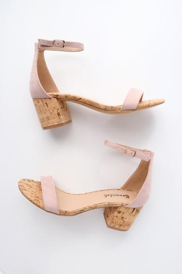 Bonnibel Brooke Blush Cork Ankle Strap Heels | Lulus