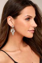 Lulus | Bound To Wow Gold Rhinestone Earrings