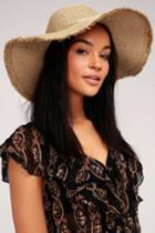 Aleenta Tan Sequin Floppy Straw Hat | Lulus
