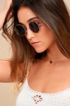 Memory Lane Gold And Black Sunglasses | Lulus