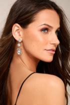Lulus | True Affection Gold Rhinestone Earrings