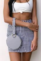 Janey Grey Genuine Suede Leather Round Mini Purse | Lulus