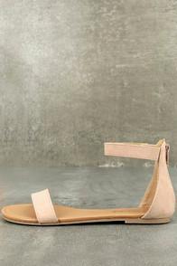 Bonnibel Wren Blush Suede Ankle Strap Sandals