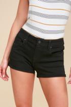Eunina Lexi Black Distressed Denim Shorts | Lulus