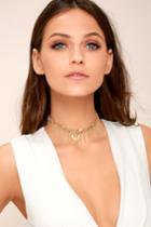 Lulus | Horoscope Gold Layered Choker Necklace