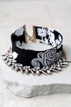 Lulus If You Had My Love Black Rhinestone Choker Necklace Set