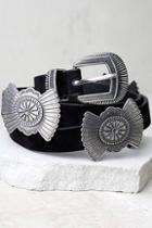 Lulus Lone Star Trail Silver And Black Belt