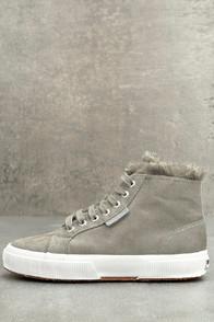 Superga 2795 Shearling Grey High-top Sneakers