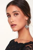 Jacques Gold Rhinestone Earrings | Lulus