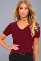 Z Supply Selene Burgundy Tee