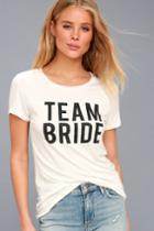 Team Bride White Tee | Lulus