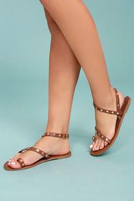 Bonnibel Alexi Tan Studded Star Sandals