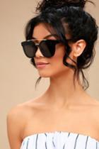 Corbin Gold And Black Sunglasses | Lulus