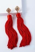 Royal Ways Red Tassel Earrings | Lulus