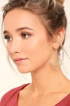 Lulus | Flourish Gold Earrings