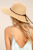 Lulus | My Paradise Tan Floppy Straw Hat | Beige