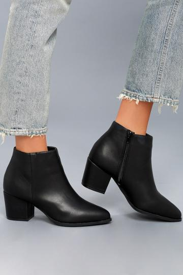 Bamboo Lorna Black Pointed Toe Ankle Booties | Lulus