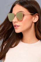 Lulus | Up On High Gold And Pink Mirrored Sunglasses