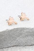 Lulus Under The Sun Rose Gold Earrings