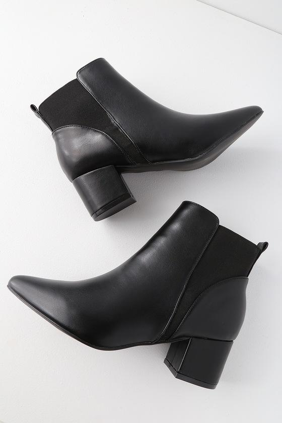 Chase Black Pointed Toe Ankle Booties | Lulus