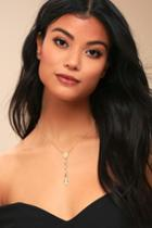 Serenity Pearl And Gold Drop Necklace | Lulus