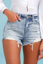 Pistola Nova Light Wash Distressed High-waisted Denim Shorts | Lulus