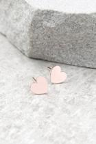 Lulus Heart's Desire Rose Gold Earrings