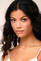 Lulus Earthshine Gold Layered Choker Necklace