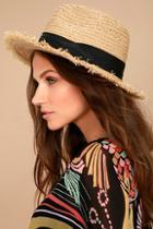 Lulus Bae Harbor Straw Fedora Hat