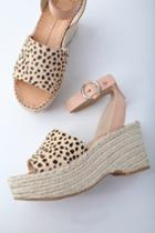 Dolce Vita Lesly Leopard Calf Hair Espadrille Wedges | Lulus