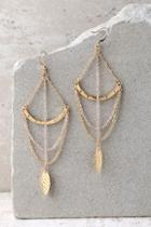 Lulus Royal Rays Gold Earrings