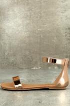 Bonnibel Wren Rose Gold Ankle Strap Sandals