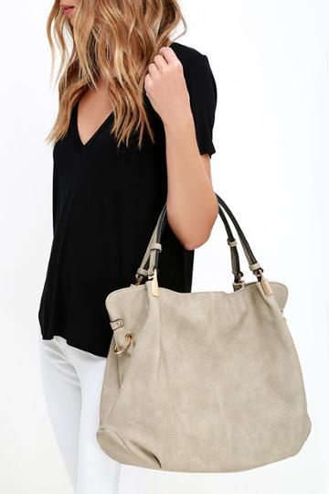 Handbag Republic Ocean Cruise Sand Grey Handbag | Lulus