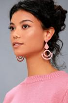 Shashi Callie Rose Pink Earrings | Lulus