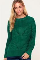 Lush Corrina Green Oversized Knit Sweater | Lulus