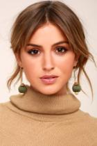 Lulus | Speakeasy Olive Green Earrings