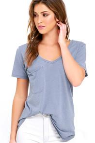 Z Supply Z Supply Pleasant Surprise Periwinkle Blue Tee