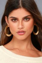 Lulus | Auric Gold Hoop Earrings
