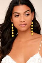 Lulus   Sun Drops Yellow Earrings