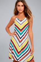 Olive + Oak Corey White Striped Dress