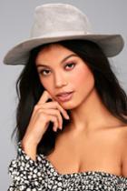 Lulus | Top It Off Grey Suede Fedora Hat | Vegan Friendly