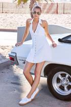 Lulus Beach Boogie White Sleeveless Dress
