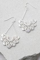 Lulus Flourish Silver Earrings