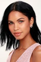 Full Of Love Gold Pearl Heart Earrings | Lulus