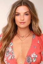 Lulus Sybella Rose Gold Layered Choker Necklace