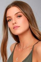 Lulus | Celestial Charm Silver Layered Necklace