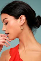 Lulus Pizzazz Gold Star Earrings