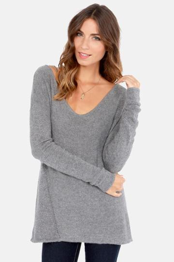 Ready Or Knit Grey Sweater