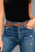 Dixie Brown And Gunmetal Studded Belt | Lulus