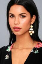 Lulus | Shayleen Gold Earrings
